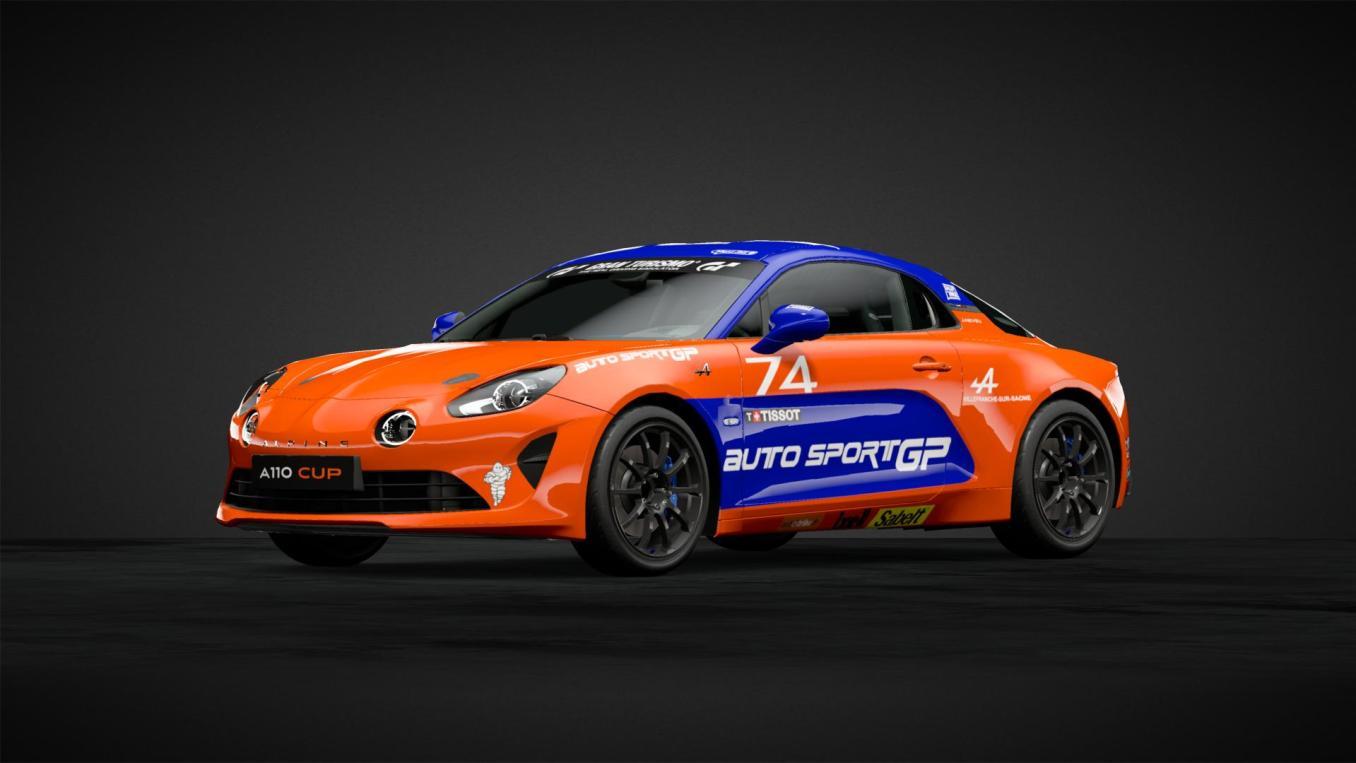 Julien NEVEU n°74 Alpine Elf Europa Cup 2019 GT Sport   Gran Turismo Sport : Rémi Adam, la référence des livrées Alpine A110 Cup