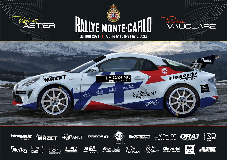 Raphaël Astier Alpine A110 Rgt Chazel Rally Monte Carlo 2021