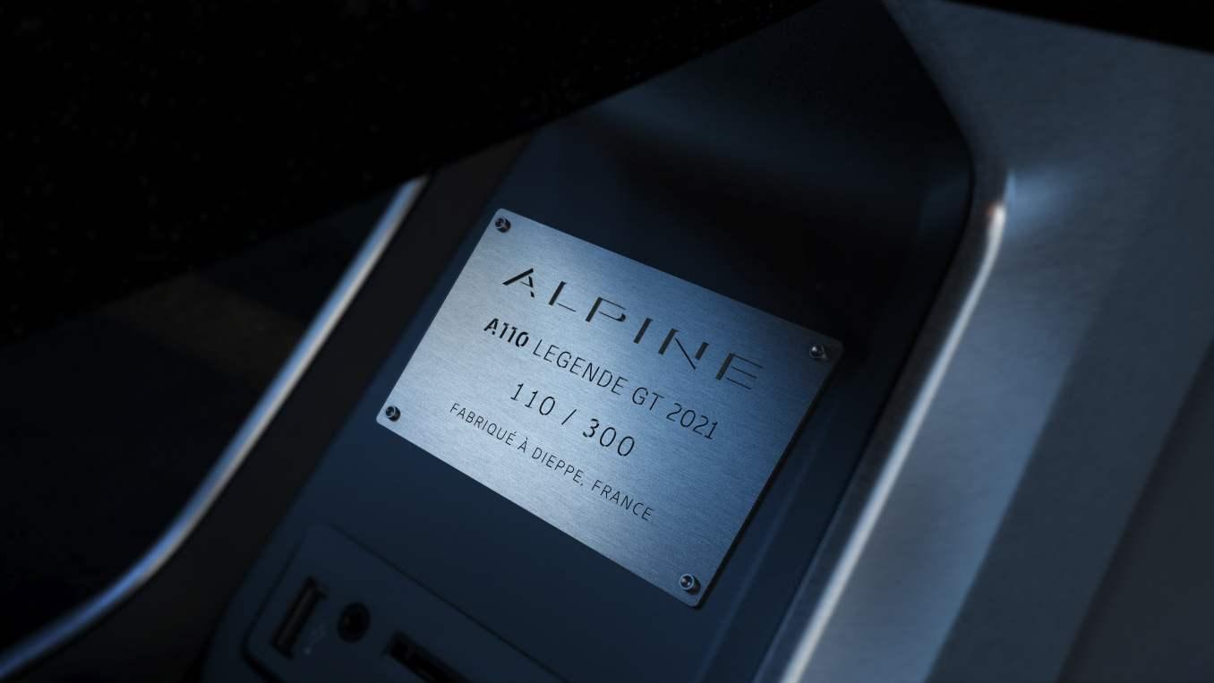 Alpine A110 Légende GT 2021 Gris Mercure Bleu Abysse 292 ch