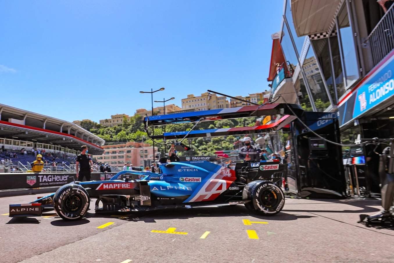 Alpine F1 Team A521 Alonso Ocon Monaco essais 2021