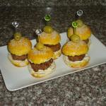 Mini burgers à la pâte à pizza