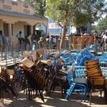 Réception de matériel scolaire au village