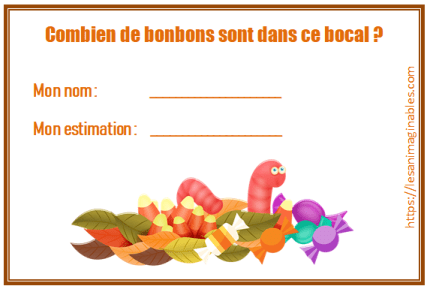 Coupon estimation nombre de bonbons