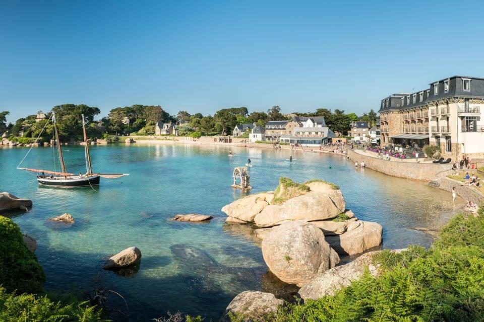 coast of saint brieuc brittany france