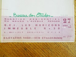 Plan d'élévation, cliché Macula Nigra. Archives de Rennes, 14 Z 54.