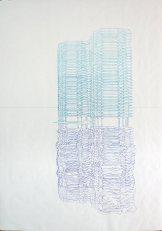 HORIZON. Feutre alcool sur papier, 150 x 200 cm. Macula Nigra, 28 août 2016.