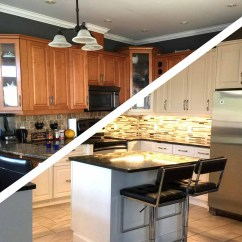 Kitchen Refacing Chalk Board Les Armoires Seguin Cabinets