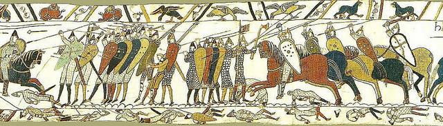 La scène 51 : la célèbre bataille de Hastings (octobre 1066)