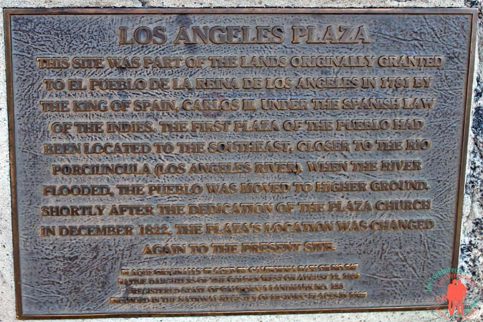 Que faire à los angeles - Plaque commémorative Los Angeles Plaza