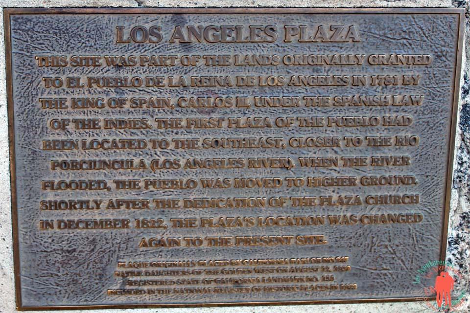 Que faire à los angeles - Plaque commémorative Los Angeles Plaza