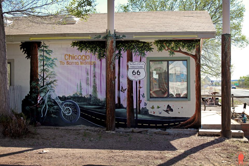 Route 66 - Street art Seligman