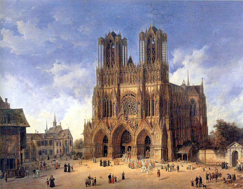 Visiter Reims - Cathédrale de Reims par Domenico Quaglio