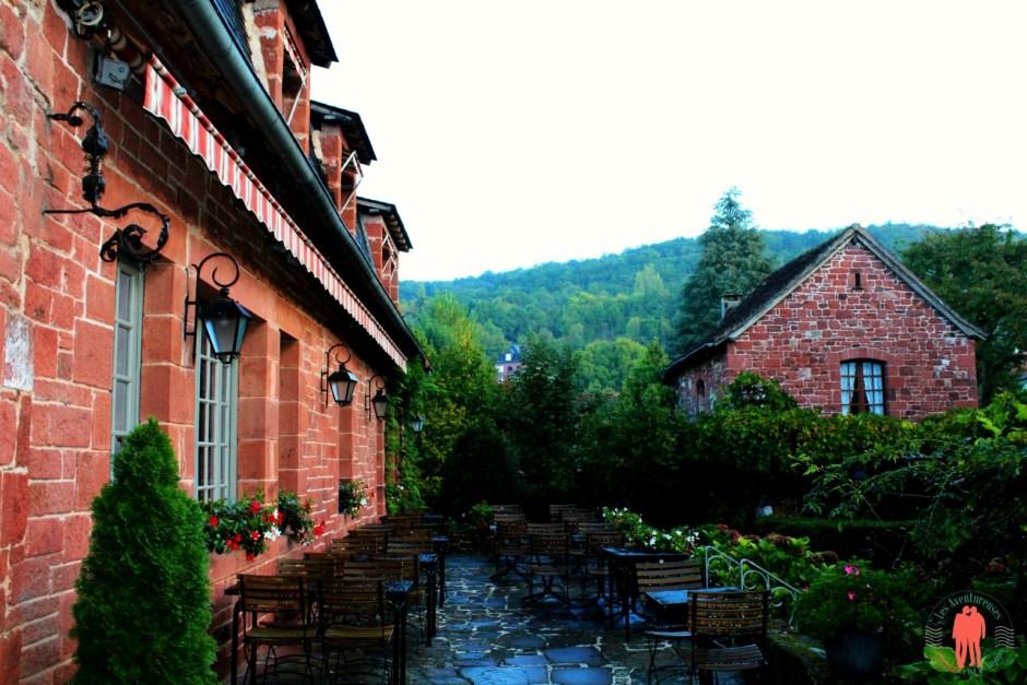Terrasse Relais Saint Jacques, Après la pluie