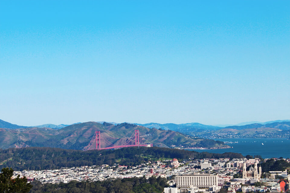 Visiter San Francisco Twin Peaks Golden Gate