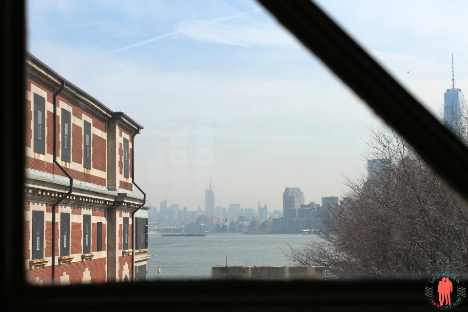 Vue sur New-York depuis Ellis Island