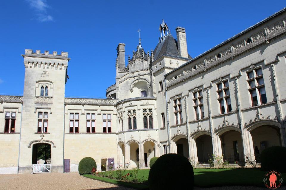 Château de Brézé Cour Intérieur vue Nord