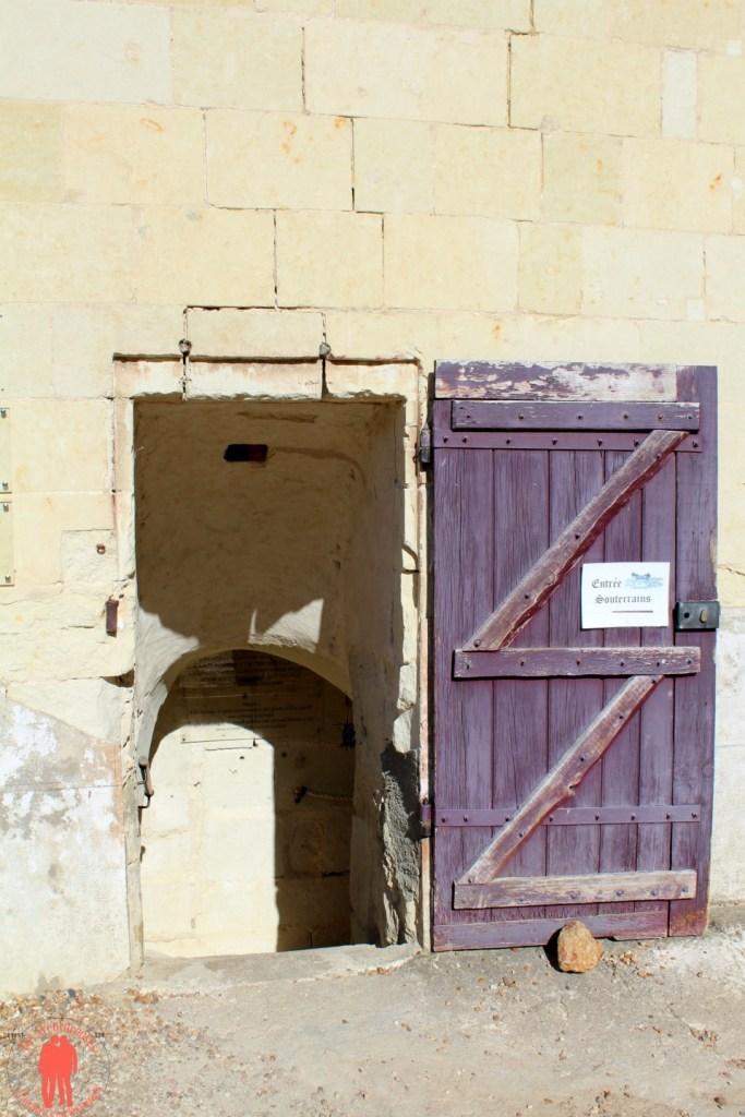 Château de Brézé Entrée troglodytes