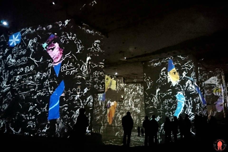 Carrières de lumières Chagall écriture 2