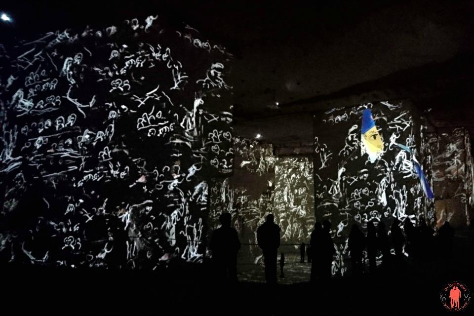 Carrières de lumières Chagall écriture