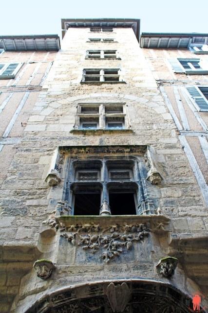 Haut de la Maison Gaubert - Villefranche-de-Rouergue