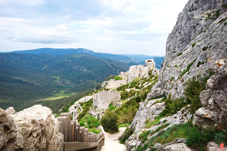 Donjon-bas-Peyrepertuse - Chateaux Cathares