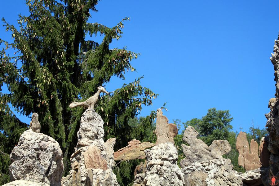 Oiseaux Imaginaire crée par le Facteur Cheval dans son Palais Idéal