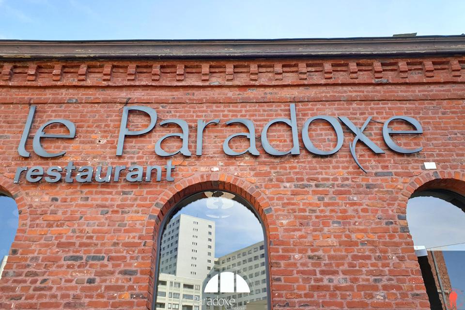 Enseigne du restaurant le Paradoxe à Tourcoing près de Roubaix