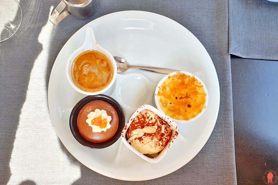 Café Gourmand au restaurant le Paradoxe à Tourcoing