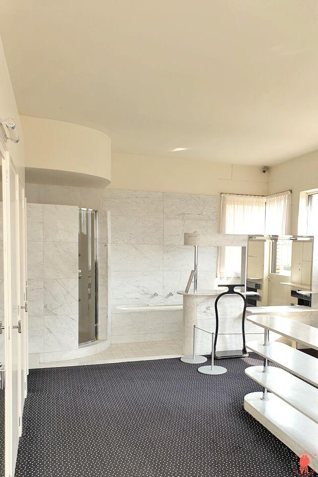 Salle de bain Parents Villa Cavrois à Croix entre Roubaix et Tourcoing