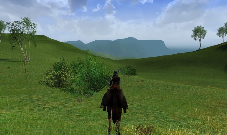 La route entre l'Ered Luin et la Comté.