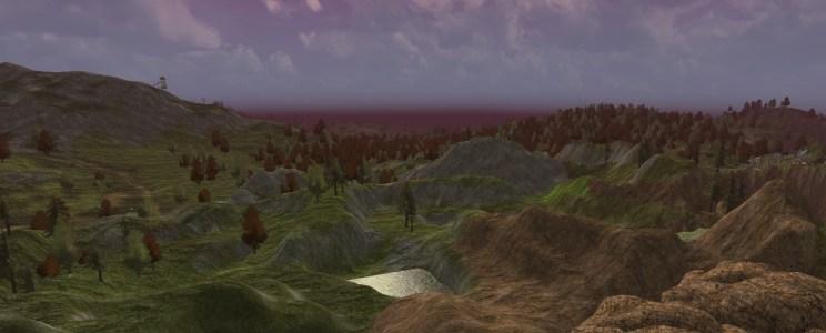 Les collines sauvages du Tâl Bruinen