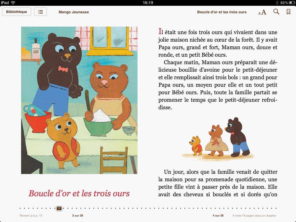 « Boucle d'Or et les trois ours » – Mango Jeunesse