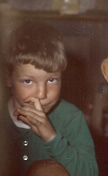 My Brother the Trespasser (proof that he's a nose-picker - been trying to prove that since the 70's) Photo © Matt Falls, 1969