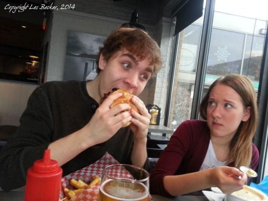 Ian Eats a Burger Bigger Than He Is