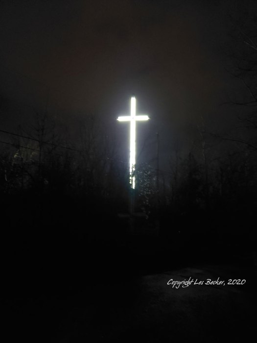 St Basil's School Cross, Sault Ste. Marie, ON. @nd Tallest Free-Standing Cross in North America