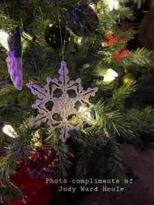 Snowflake Christmas Tree ornament on tree