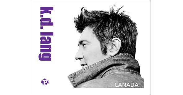 k.d. lang Canadian Post Stamp