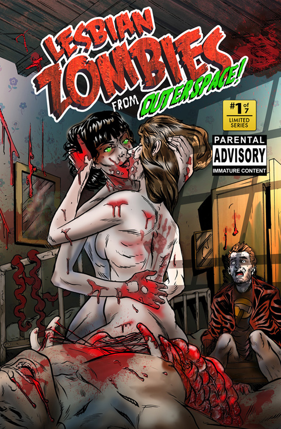 Cover art for Lesbian Zombies from Outer Space, Issue #1