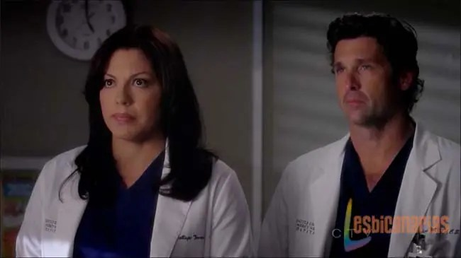 Callie y Derekdespidiéndose de Mark