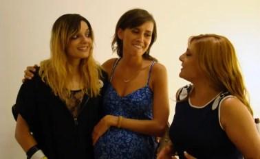 Sabrina, María y Estefanía