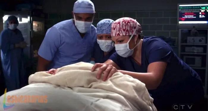 Callie en quirófano