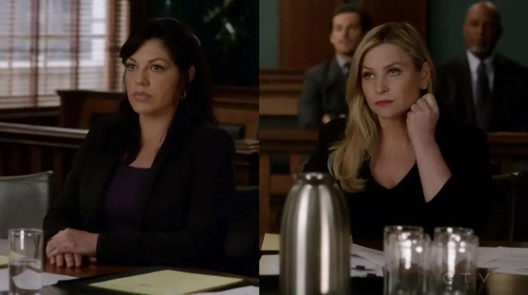 Callie y Arizona meditando