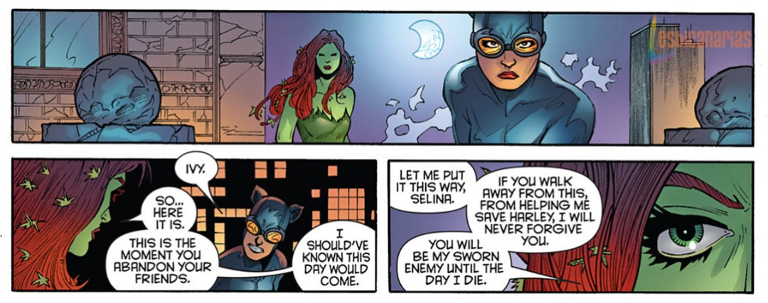 Poison Ivy discute con Catwoman