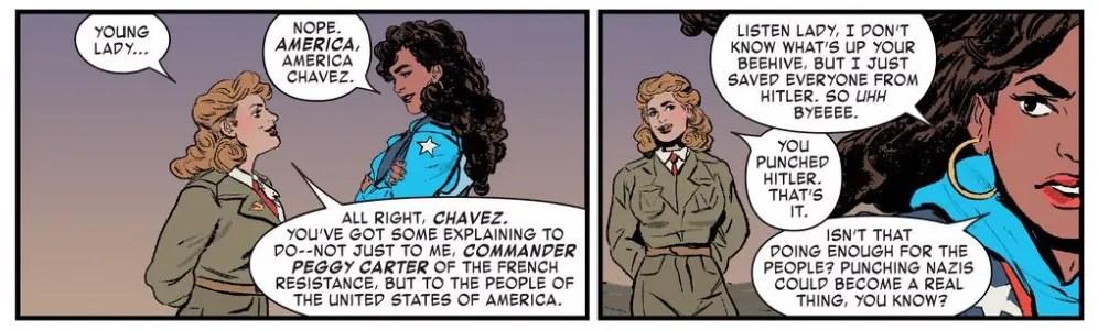 America Chavez con Peggy Carter