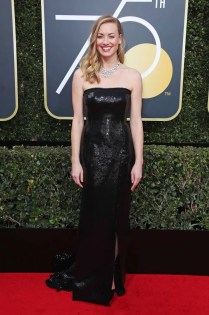 Mandatory Credit: Photo by REX/Shutterstock (9307701ay) Yvonne Strahovski 75th Annual Golden Globe Awards, Arrivals, Los Angeles, USA - 07 Jan 2018