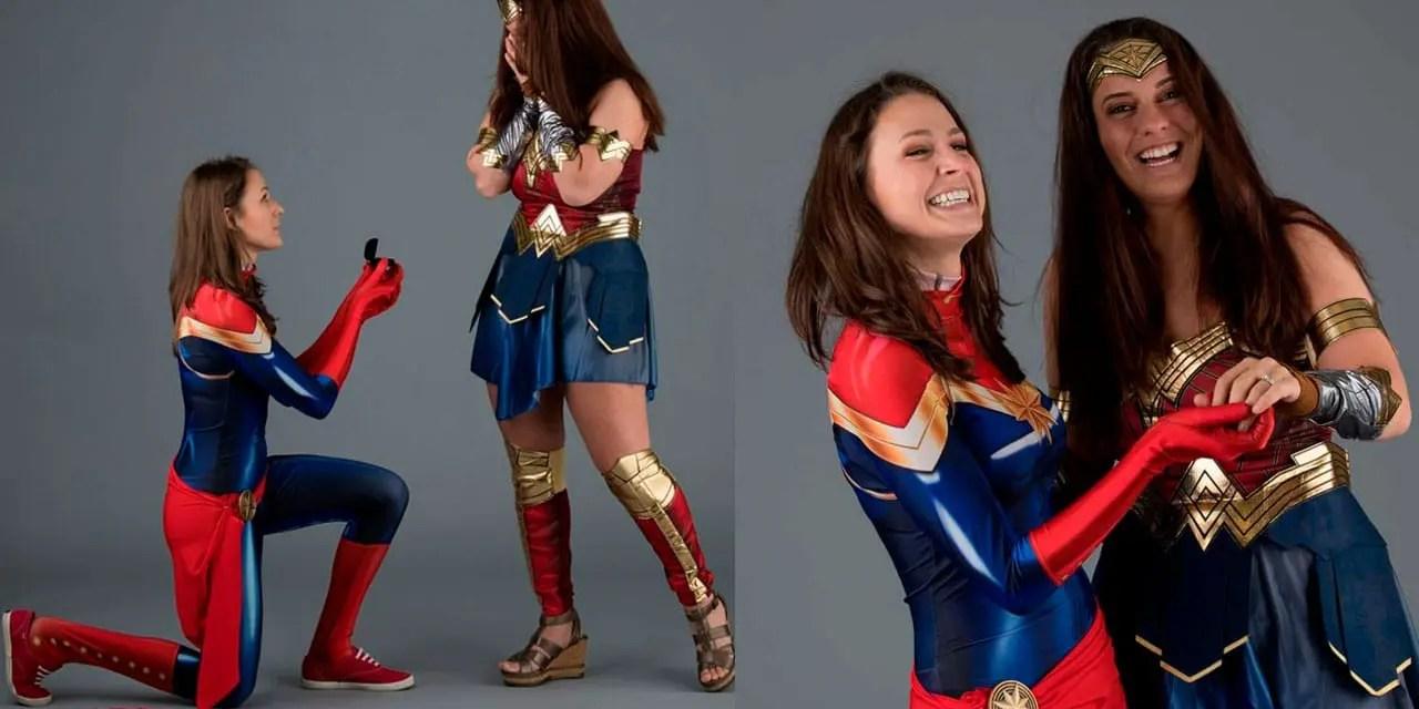 La Capitana Marvel y la Mujer Maravilla se comprometieron en la Motor City Comic Con