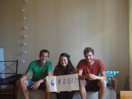 On fête nos 6000km chez Elena!