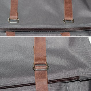 placing the straps adjusters