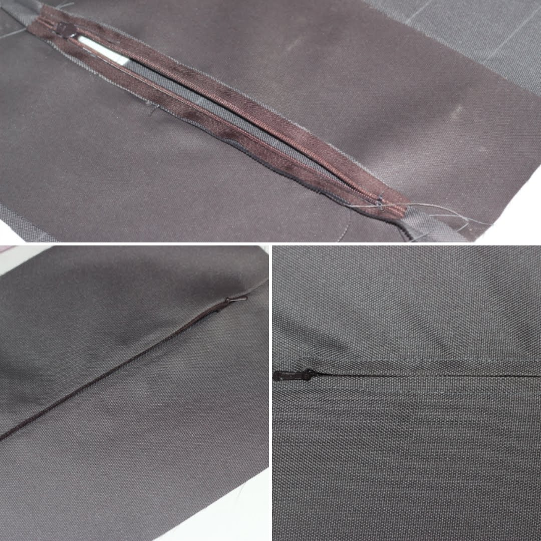 over-stitching the zipper