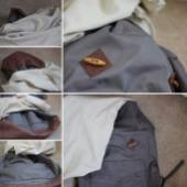 flipping the lining inside the backpack